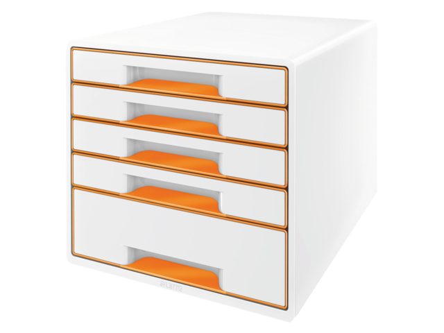 Ladenbox leitz 5214 wow 5 laden wit/oranje
