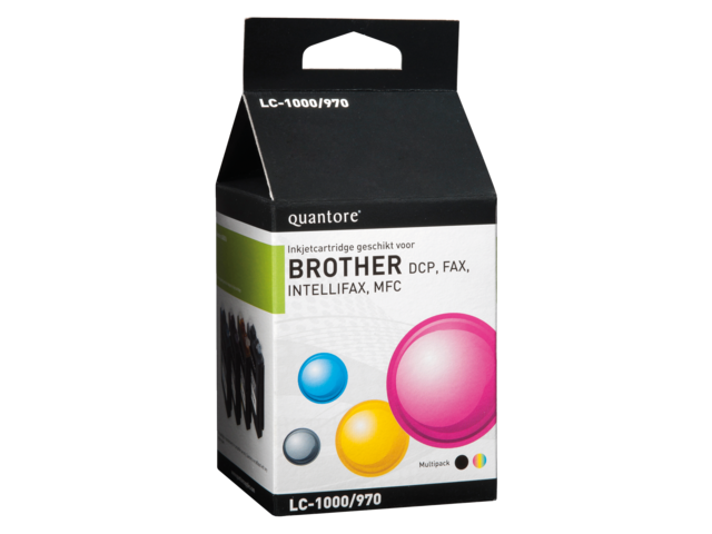 Inkcartridge quantore brother lc-1000 4-pack