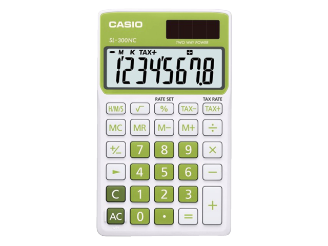Rekenmachine casio sl-300nc groen