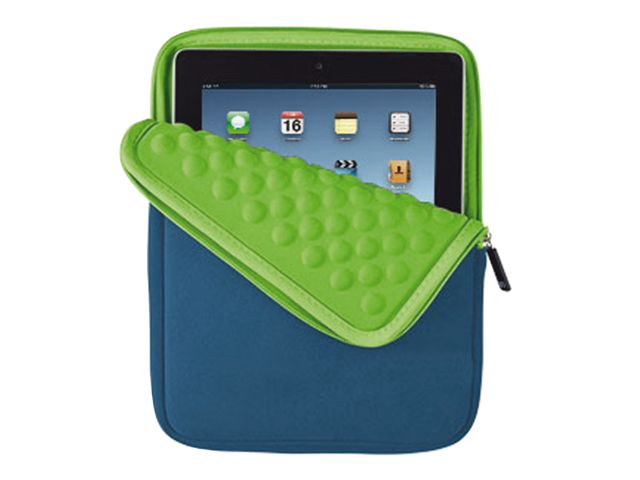 Tablethoes anti-shock bubble sleeve 10inch tablets blauw