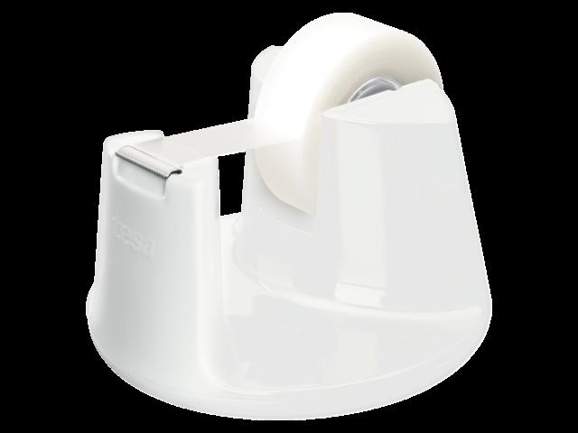 Plakbandhouder tesa compact wit met 1rol tape 19mmx33m