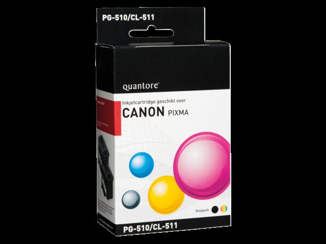 Inkcartridge quantore canon pg-510 cl-511 zwart +  kleur
