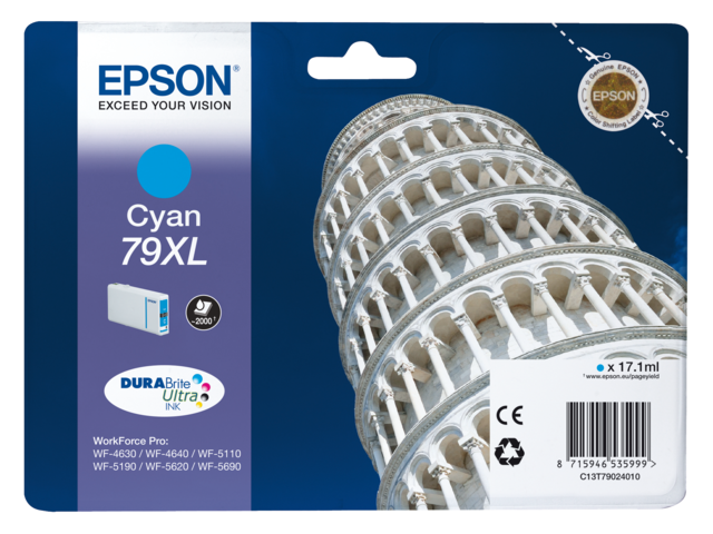Inkcartridge epson t790240 blauw hc