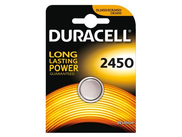 Batterij duracell knoopcel 2450 lithium