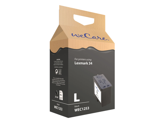 Inkcartridge wecare lexmark 18c0034 34 zwart