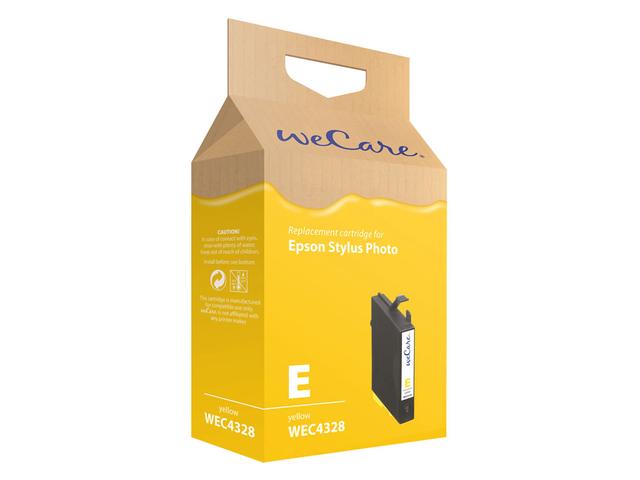 Inkcartridge wecare epson t055440 geel