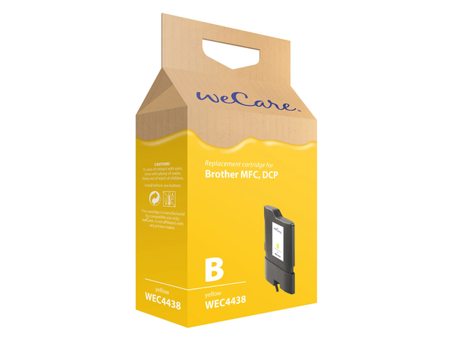 Inkcartridge wecare brother lc-1100 lc-980 geel