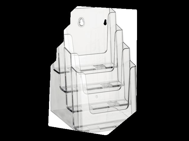Folderstandaard nedco 37501 4xa5 staand/hangend transparant