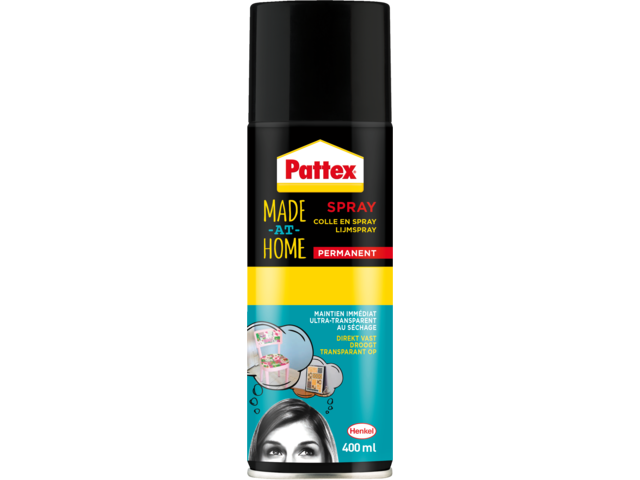 Lijm pattex hobby spuitbus permanent 400ml