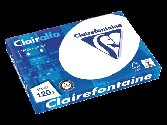 Kopieerpapier clairefontaine clairalfa a4 120gr wit 250vel