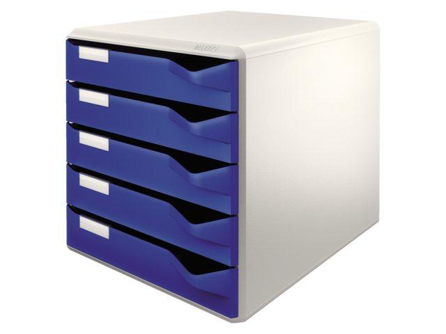 Ladenblok leitz 5280 5 laden blauw bestel uw ladenblok for Ladenblok kunststof