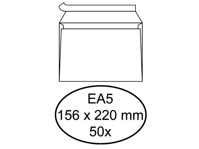 Envelop hermes bank ea5 156x220mm zelfklevend wit 50stuks