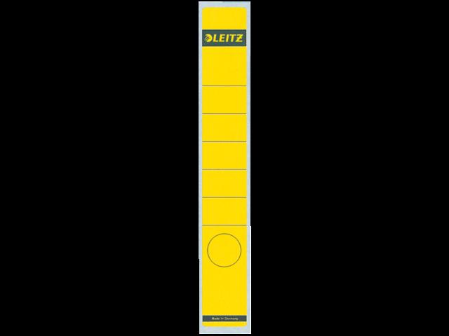 Rugetiket leitz 1648 38x290mm zelfklevend geel