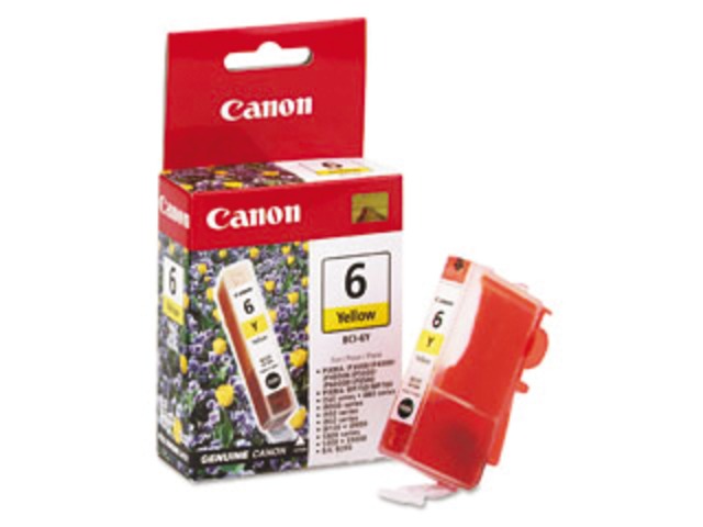 Inkcartridge canon bci-6y geel