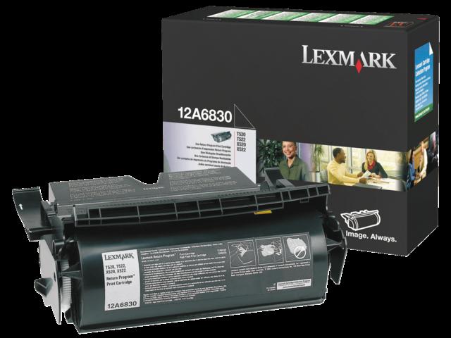 Tonercartridge lexmark 12a6830 prebate zwart