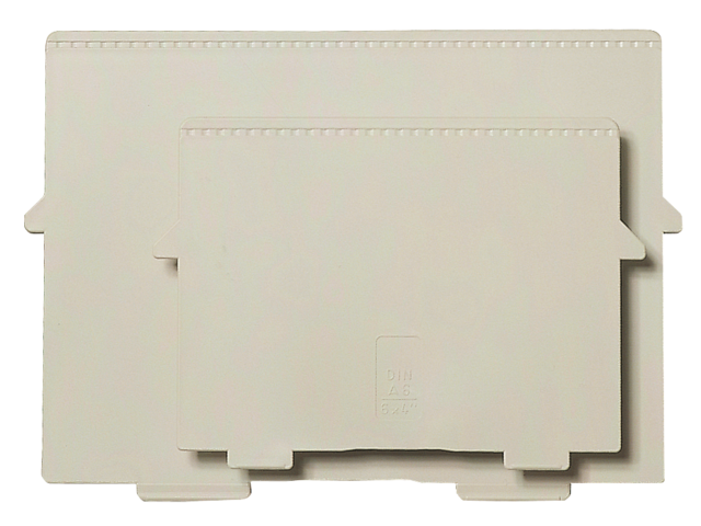Scheidingsplaat kaartenbak multiform a5 dwars grijs