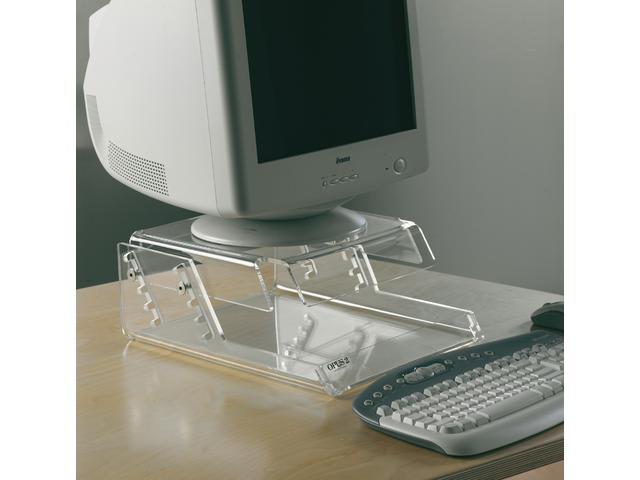 Flatscreenstandaard opus2 17inch verstelbare hoogte transpar