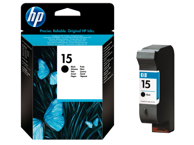 Inkcartridge hp c6615de 15 zwart