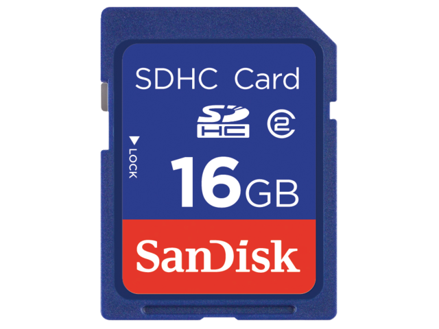 Geheugenkaart sandisk sdhc class4 16gb