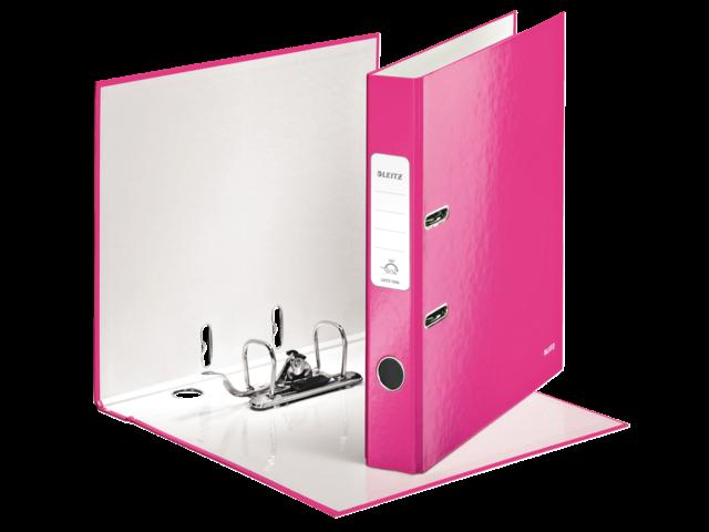 Ordner leitz wow 1006 50mm karton roze