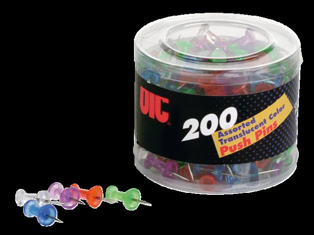 Push pins oic translucent kleuren assorti