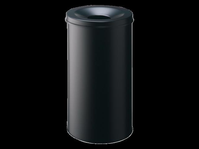 Papierbak met vlamdover durable 3307-01 rond 60liter zwart