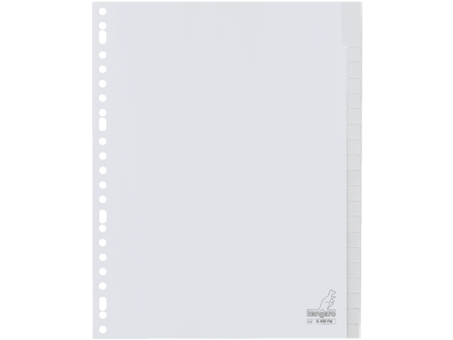 Tabbladen kangaro 23-gaats g420fm 20-delig+venster grijs pp