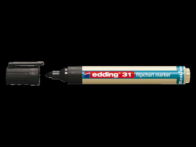 Viltstift edding 31 eco voor flipover rond 1-5mm zwart