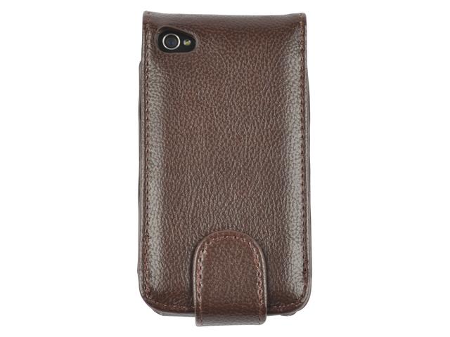 Telefoonhoes dresz flipcase iphone 4/4s bruin