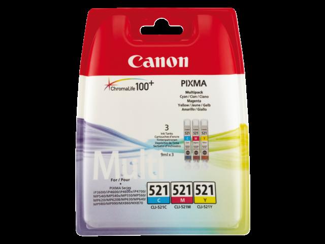 Inkcartridge canon cli-521 3 kleurenset
