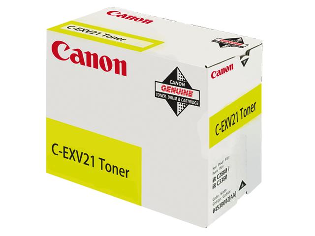 Tonercartridge canon c exv21y geel