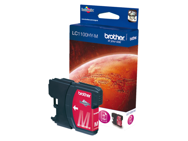 Inkcartridge brother lc-1100hym rood hc