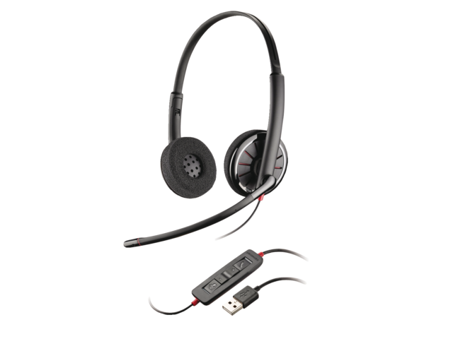Headset plantronics usb c320 black wire