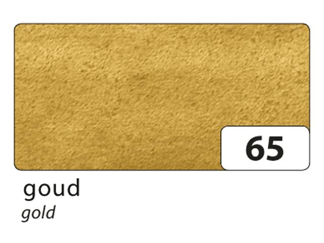 Zijdevloeipapier folia 50x70cm 20g nr65 goud setà 5vel
