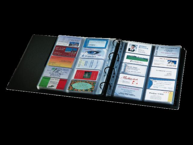 Visitekaartenringband sigel vz301 voor 400kaarten zwart