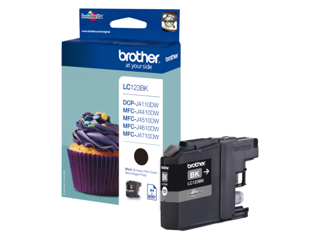 Inkcartridge brother lc-123bk zwart