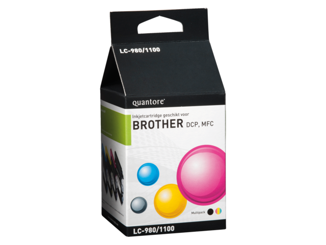 Inkcartridge quantore brother lc-1100 4-pack