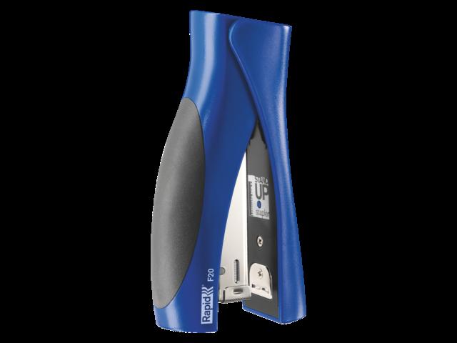 Nietmachine rapid f20 standup halfstrip 20vel 24/6 blauw