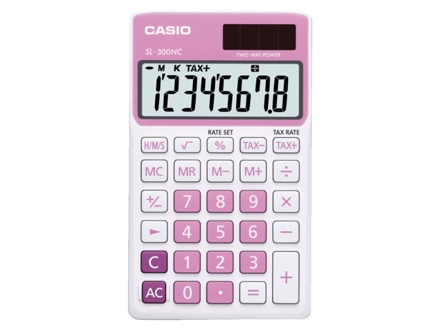 Rekenmachine casio sl-300nc roze