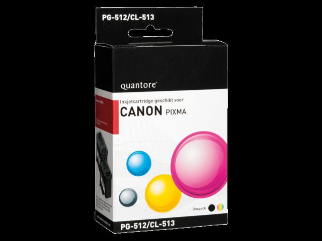 Inkcartridge quantore canon pg-512 cl-513 zwart + kleur