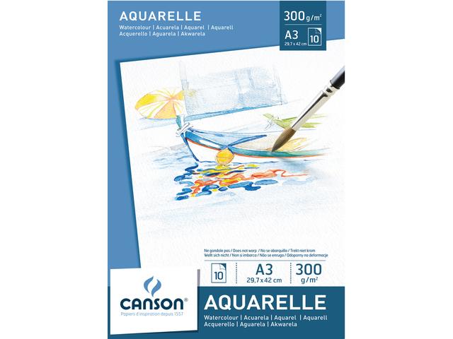 Aquarelblok canson a3 300gr 10vel