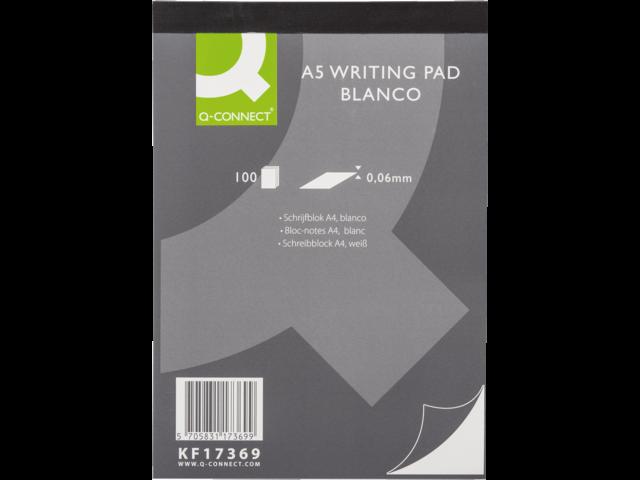 Schrijfblok q-connect a5 blanco 60gr
