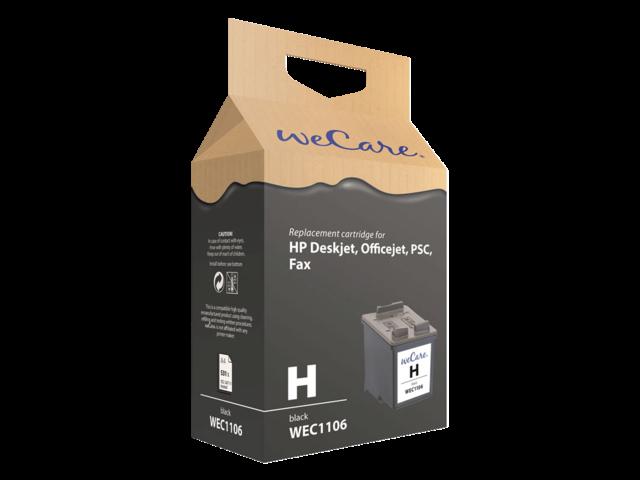 Inkcartridge wecare hp c9351a 21 zwart