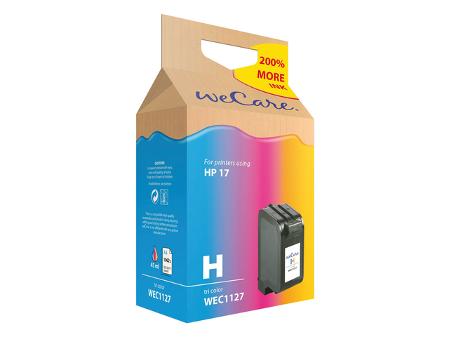 Inkcartridge wecare hp c6625a 17 kleur