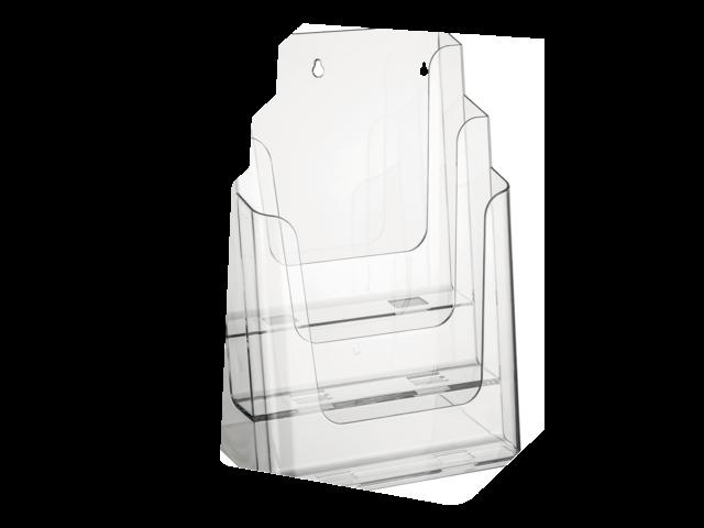 Folderstandaard nedco 37301 3xa4 staand/hangend transparant