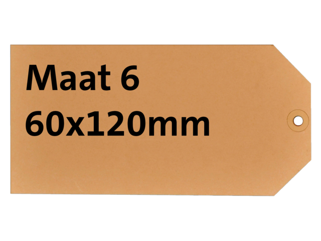 LABEL HF2 NR6 60X120MM KARTON 200GR CHAMOIS