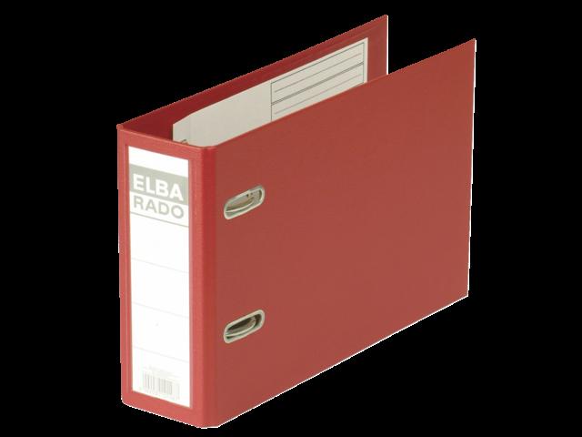 Ordner elba rado plast a5 dwars 75mm pvc rood