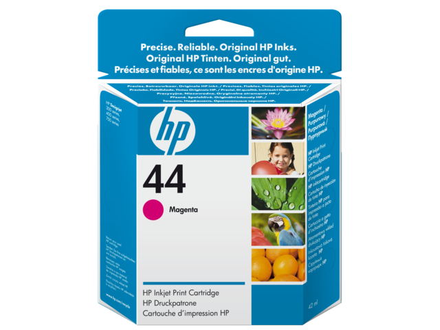Inkcartridge hp 51644m 44 rood