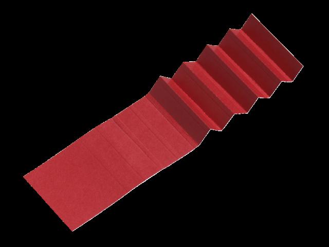 Ruiterstrook voor alzicht hangmappen a5847-2 65mm rood