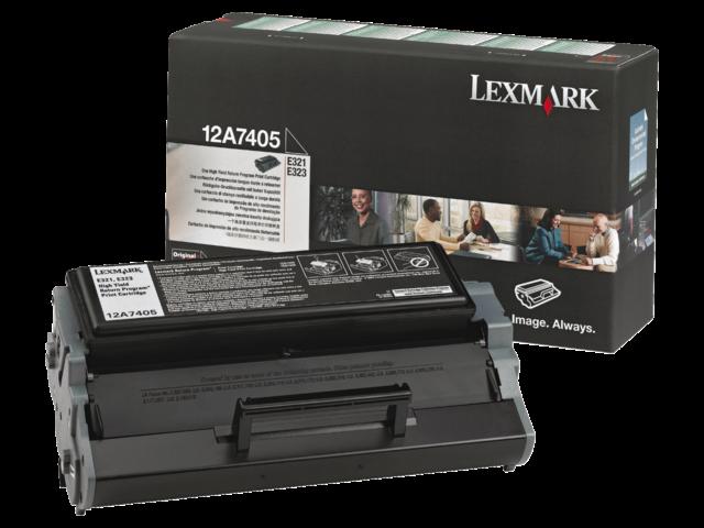 Tonercartridge lexmark 12a7405 prebate zwart